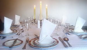 Candle lit dinner party catering services